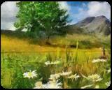 HC0265, Digital Art / Computer Art, Expressionism,Fine Art, Floral,Landscape, Digital, By Heloisa do Nascimento Castro