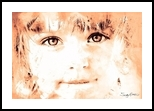 Hello, Digital Art / Computer Art, Fine Art, Children,People,Portrait, Digital,Watercolor, By Sandy Richter