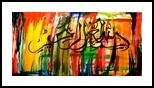 Here I begins with the name of god, Calligraphy, Abstract,Pop Art, Religious,Spiritual, Acrylic,Canvas, By asm g ambia