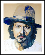 Here's Johnny, Paintings, Impressionism, Portrait, Acrylic, By broonzy williams
