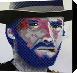 High Plains Drifter. Portrait of Clint Eastwood, Paintings, Pop Art, Portrait, Acrylic, By Curtis Dickman