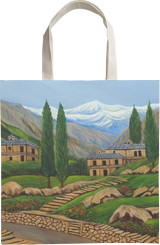 Himalayan Village, Paintings, Realism, Landscape, Canvas, By Ajay Harit