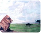 His Domain, Paintings, Realism, Animals, Painting, By William Clark