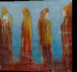 Hommage Gustav Klimt, Paintings, Symbolism, Figurative, Oil, By Eva Hoffmann