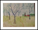 Honey Locusts, Paintings, Impressionism, Landscape, Pastel, By MD Meiser
