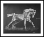 Horse 2, Drawings / Sketch, Fine Art, Animals, Pastel, Pencil, By Hennie Cloete