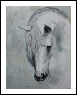 Horse 3, Paintings, Fine Art, Animals, Painting, By Hennie Cloete