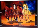 Horse Abstract Painting, Decorative Arts,Paintings, Abstract,Fine Art,Modernism, Animals,Landscape, Acrylic,Canvas, By Amal Raj Augustine