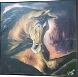 Horse painting, Paintings, Impressionism, Animals, Acrylic,Canvas, By Debdas Mazumder