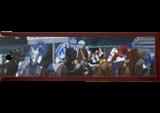 Horse race, Paintings, Realism, Animals, Oil, By Claudia Luethi alias Abdelghafar