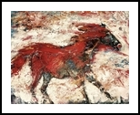 Horses On Fire #1, Paintings, Abstract, Animals, Acrylic, By Connie McKeehen