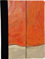 38cde610cb1041 Hot orange gold rusty iron A113 Abstract Painting vertical wall art Acrylic  Original Contemporary Art for Lounge