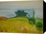 House Upon a Hill, Paintings, Impressionism, Landscape, Oil, By MD Meiser