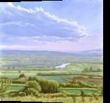 How Green is My Valley, Paintings, Fine Art,Realism, Landscape,Nature, Oil,Wood, By Dejan Trajkovic
