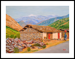 Hut in Mountains, Paintings, Expressionism,Photorealism,Realism, Landscape, Canvas, By Ajay Harit