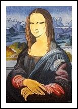Icon - Monna Lisa, Paintings, Modernism, Conceptual,Portrait, Acrylic,Metal,Oil,Painting,Wood, By Tamara Donati