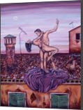 IL BALLO, Paintings, Fine Art,Surrealism, Cityscape,Composition,Nudes, Acrylic,Canvas, By Corinne Marie Claude Tomas