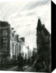 Impression of an Amsterdam sunset - 17-11-14, Drawings / Sketch, Abstract,Fine Art,Impressionism,Realism,Surrealism, Architecture,Cityscape,Composition,Figurative,Inspirational,Landscape, Pencil, By Corne Akkers