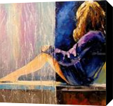 In anticipation, Paintings, Impressionism, Fantasy,Figurative,People, Canvas,Oil,Painting, By Olha   Vyacheslavovna Darchuk