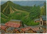 In the Lap of Nature, Paintings, Expressionism,Realism, Landscape, Canvas, By Ajay Harit