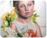 In the name of the flowers, Paintings, Fine Art,Photorealism,Realism,Romanticism, Botanical,Figurative,People,Portrait, Oil, By Ivan Pili
