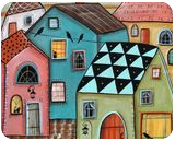 In Town, Folk Art, Fine Art, Cityscape, Acrylic, By KARLA A GERARD