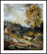 In the wood 6771, Paintings, Impressionism, Landscape, Canvas, By Pol Henry Ledent