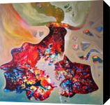 inner dream, Paintings, Abstract,Impressionism, Fantasy,Figurative, Canvas, By sanjay g punekar