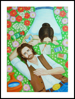 Innocence, Paintings, Realism,Symbolism, Daily Life,Fantasy,Nature,Portrait,Weddings, Oil, By Nikita Gusev
