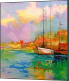 Iridescent morning, Paintings, Expressionism,Impressionism, Land Art,Nature,Seascape, Canvas,Oil,Painting, By Olha   Vyacheslavovna Darchuk