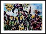 Irises.2, Paintings, Surrealism, Floral, Watercolor, By Victor Ovsyannikov