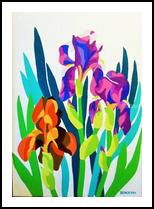 IRISES, Paintings, Realism, Floral, Mixed, By Zenon Wladyslaw Rozycki