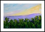 Island Sunrise, Paintings, Impressionism, Tropical, Oil, By fred wilson