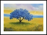 Jacaranda 4, Paintings, Impressionism, Landscape, Oil, By Alicia Maury