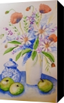 Jaipur, Illustration, Commercial Design, Botanical,Floral,Still Life, Watercolor, By Defined by Art With Lauren