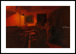 Jazz, Paintings, Impressionism, Avant-Garde, Canvas,Oil, By Michael J Connors