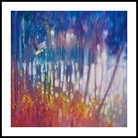 Jewel of Nature - semi abstract with woodland bird, Paintings, Fine Art, Landscape, Oil, By Gill Bustamante