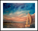Journey into youth, Paintings, Impressionism, Seascape, Canvas, By Valeriy Politov