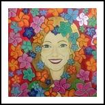 Joy, Decorative Arts, Primitive, Portrait, Acrylic, By Paula Valeria Fridman