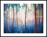Jubilant Spring - a Sussex bluebell landscape painting, Paintings, Fine Art, Landscape, Oil, By Gill Bustamante