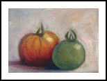 Juicy Tomatoes, Paintings, Impressionism,Realism, Still Life, Canvas,Oil, By Runa Bakshi