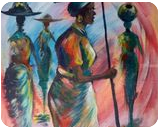 keepers of home, Paintings, Impressionism, Inspirational, Acrylic,Canvas, By Ernest larbi Budu