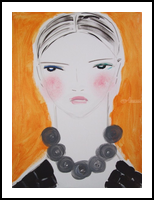 Kim, Paintings, Abstract,Impressionism,Minimalism,Modernism,Primitive, Portrait, Acrylic, By Lianne Kocks