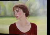 Kira, Paintings, Expressionism,Fine Art,Modernism,Realism,Romanticism, People,Portrait, Canvas,Oil, By Elena Adele Dmitrenko