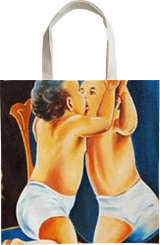 KISS THE MIRROR, Paintings, Expressionism, Figurative, Canvas, By RAGUNATH VENKATRAMAN