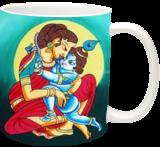 Krishna and Yashodha - Infinitive love, Paintings, Expressionism, Figurative, Canvas, By RAGUNATH VENKATRAMAN