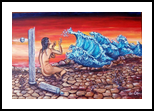 L'IMPLORAZIONE PER L'ACQUA, Paintings, Fine Art,Surrealism, Composition,Figurative,Nudes, Acrylic,Canvas, By Corinne Marie Claude Tomas