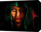 Lady In Green Hood, Paintings, Impressionism, People,Portrait, Oil, By Dan Twitchell