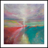 LAND OF HOPE, Paintings, Abstract,Expressionism,Fine Art,Modernism, Fantasy,Land Art,Landscape, Oil, By Emilia Milcheva