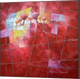 Landscape and trees in red, Paintings, Abstract, Figurative,Floral,Landscape, Canvas,Oil, By Beatrice BEDEUR